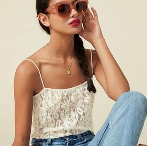 Reformation Marseille Lace Top